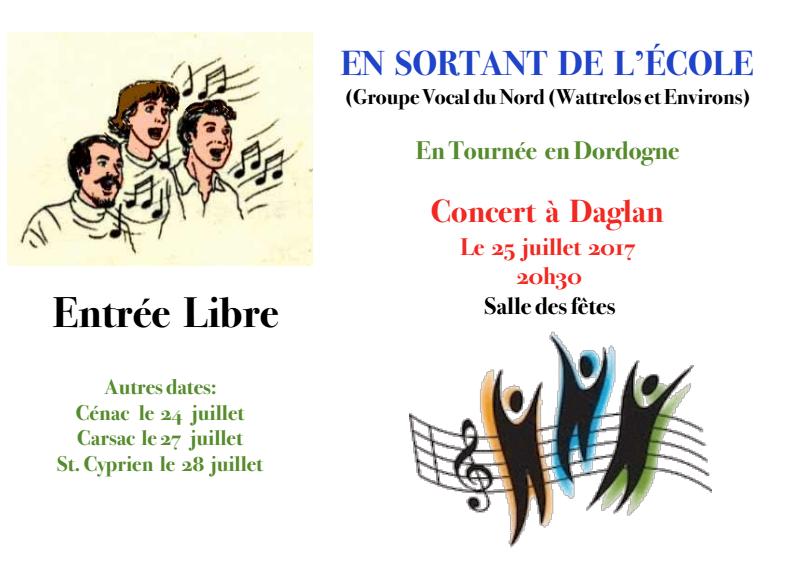 concert à Daglan